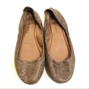 LUCKY BRAND Emmie Leather Ballet Flats Shoes